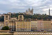 Cathedrale Saint Jean And Basilique Notre Dame De Fourviere In Lyon
