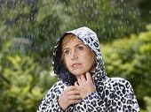 Woman And Raincoat