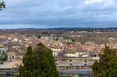 pic of avignon  - View of Avignon with Rhone river  - JPG