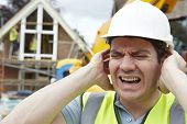 Construction Suffering From Noise Pollution On Building Site