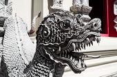 Creature Statue At Pra Tad Doi Tung Temple