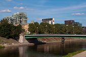 The Green Bridge in Vilnius, Lithuania