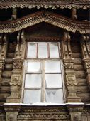 Window. Woodcarving
