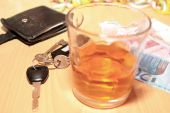 Whiskey Car Keys And Euro Cash