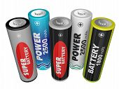 Five Aa Batteries