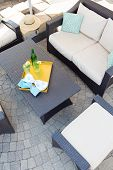 Upmarket Outdoor Patio With Garden Furniture