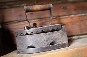 Antique Cast Iron Charcoal Flat