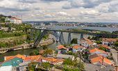 Maria Pia Bridge In Porto, Constructed By Eiffel
