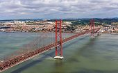 View On The 25 De Abril Bridge - Lisbon, Portugal