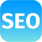 Blue Seo Icon For Web App