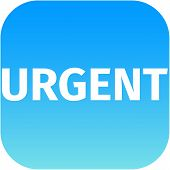 Text Urgent On Blue Icon
