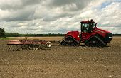 Case Quadtrac Tractor And Disk Harrow