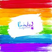 Bright rainbow paint splashes vector background
