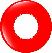 White Glossy Sphere Icon Button Isolated On White
