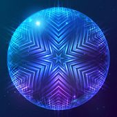 Abstract vector shining cosmic sphere