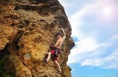 Tourist Climbing