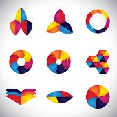 Abstract Colorful Element Design Vector Icons