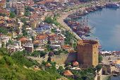 Red Tower In Alanya, Turkey