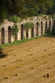 foto of aqueduct  - Roman aqueduct near Manavgat Side in Turkey - JPG