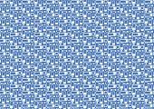 Rounded Corner Rectangle Pattern On Blue Background