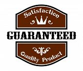 Satisfaction Guaranteed Quality label
