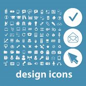 web design, internet icons, signs, symbols set, vector