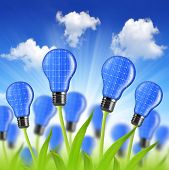 eco energy bulbs from solar panels