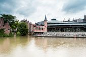 picture of gents  - this old fish market stay in the hart of the city of Gent - JPG