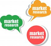 Market Research, Set Of Stickers, Labels, Tags. Template For Infographics