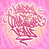 Happy Valentine´s Day Graffiti Card.