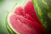 Fresh watermelon close up