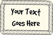 Chain text frame vector