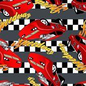 Speedway Racing Seamless Pattern