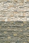 Brown color decorative design uneven stone stucco wall