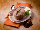 cheese cake with cinnamon vanilla and cocoa