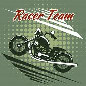 Classic motorcycle race team design