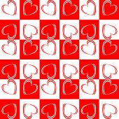 Design Seamless Red Hearts Pattern