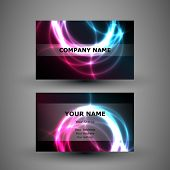 Abstract Colorful Modern Business Card Template Vector Illustration, Creative Design, Back and Front