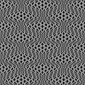 Design Seamless Monochrome Wave Pattern