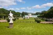 Marble Statues In The Park And Palace