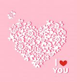 Beautiful paper heart with greeting for you