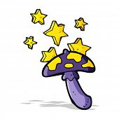 picture of toadstools  - cartoon magic toadstool - JPG