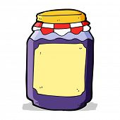 cartoon jar of jam