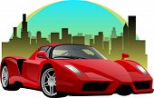 image of mph  - Fast red exotic car in the city - JPG