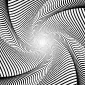 picture of distortion  - Design whirlpool movement illusion background - JPG