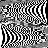 stock photo of distortion  - Design monochrome movement illusion background - JPG