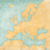 Map Of Europe - Blank Map (vintage Series)