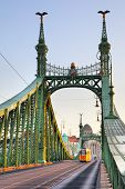 Liberty Bridge in Budapest, Hungary