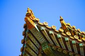 Close-up of an eaves of the Forbidden City