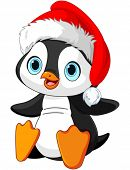 Illustration of Cute Christmas penguin